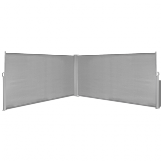 "Picture of Retractable Side Awning 63""x236"" Gray"