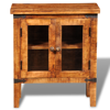 Picture of Rough Mango Wood Cabinet with Glass Doors