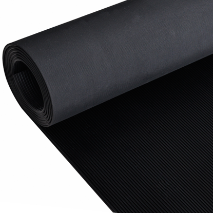 Picture of Rubber Floor Mat Anti-Slip 7' x 3' Fine Ribbed