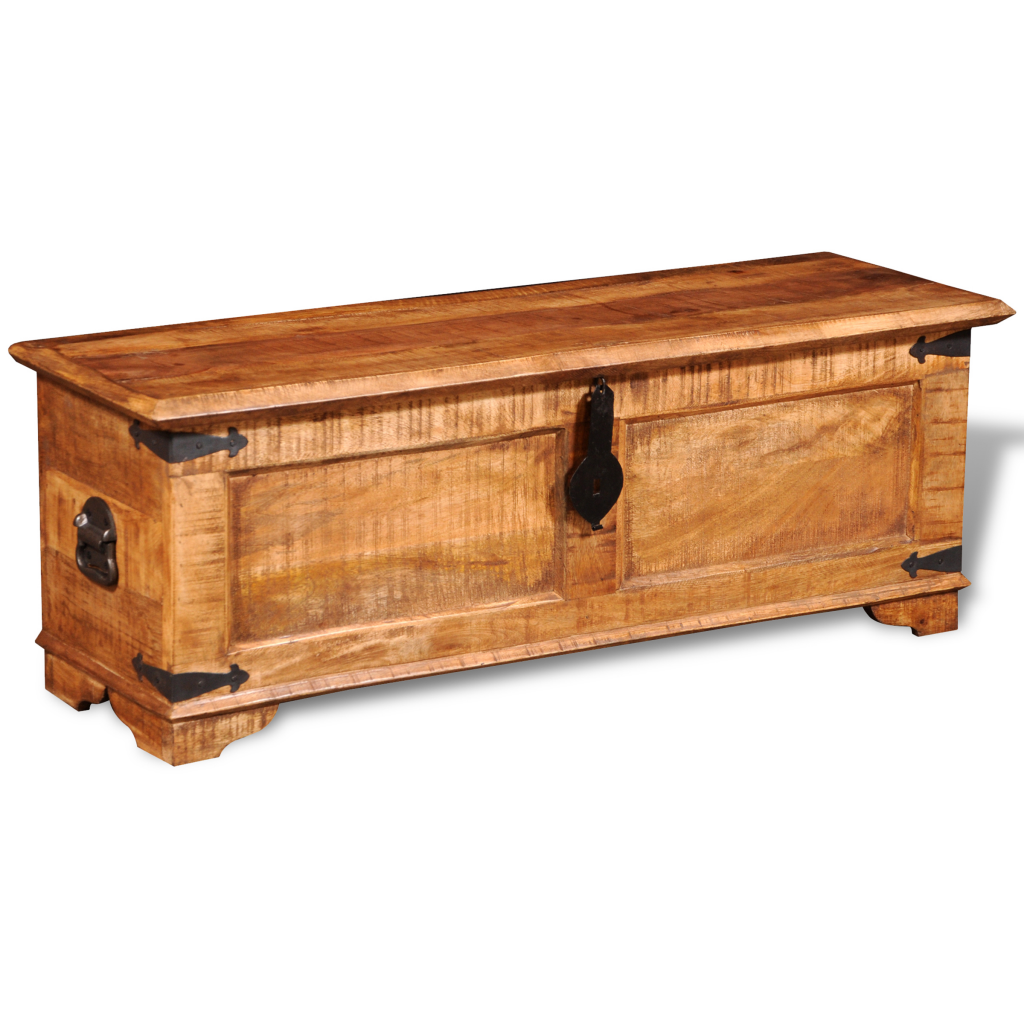 Picture of Rustic Rough Storage Chest Trunk Handmade Coffee Table - Mango Solid Wood