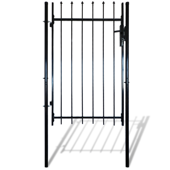 """Picture of Single Door Fence Gate with Spear Top 39""""W x 67""""H"""