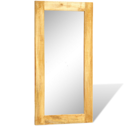 "Picture of Solid Wood Framed Rectangle Wall Mirror 47.2""x23.6"""