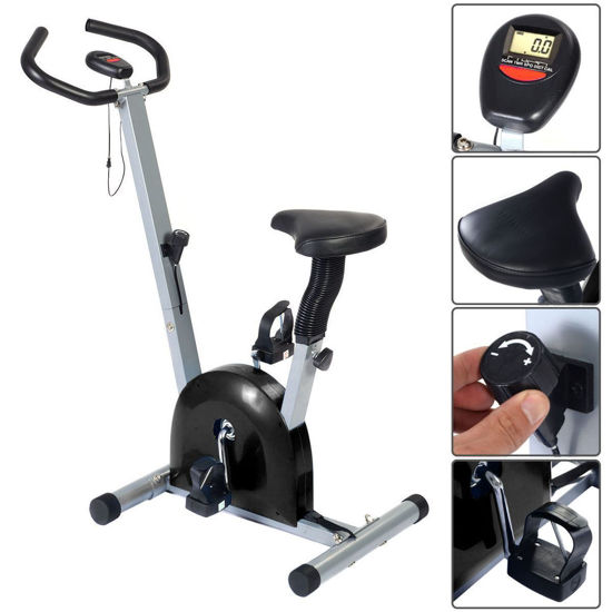 Picture of Stationary Fitness Cardio Exercise Bike Workout