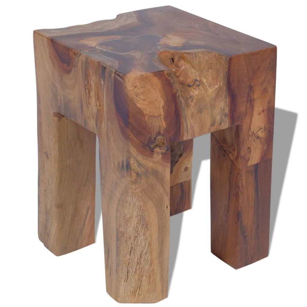 """Picture of Stool Solid Teak 11.8""""x11.8""""x15.7"""""""