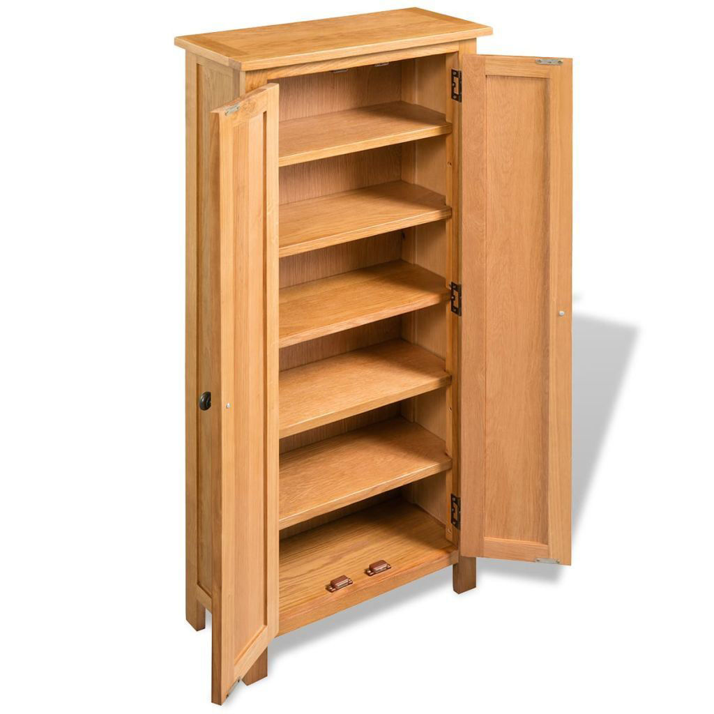 "Picture of Storage Cabinet Solid Oak 19.7""x8.7""x48"""