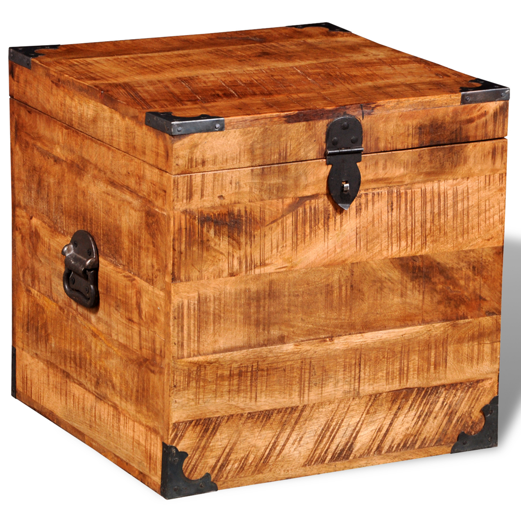 Picture of Storage Square Chest - Rough Mango Wood