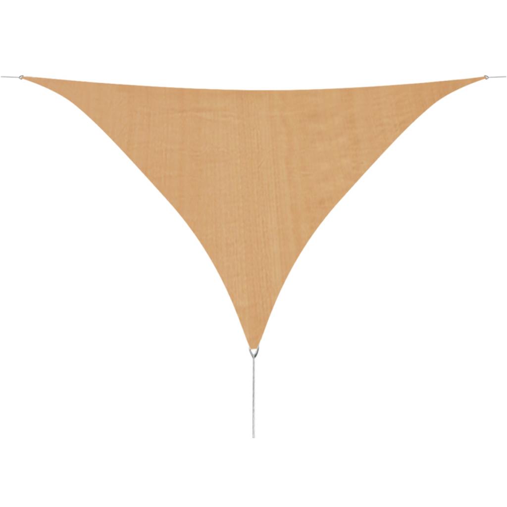 Picture of Sunshade Sail HDPE Triangular 16.4'x16.4'x16.4' Beige