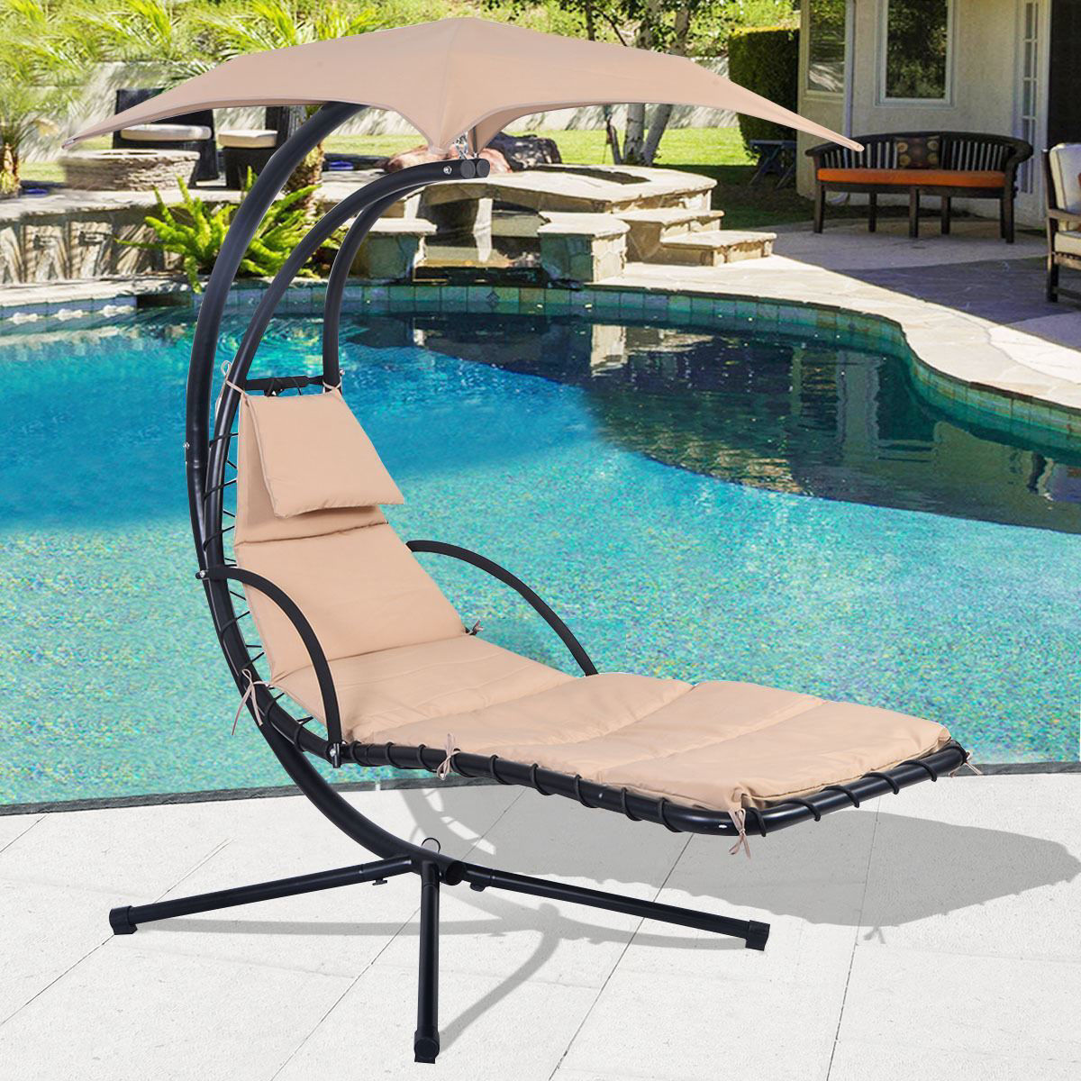 Picture of Swing Hammock Chair Hanging Chaise Lounger Chair