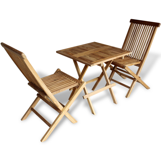 Picture of Teak Three Piece Outdoor Bistro Set