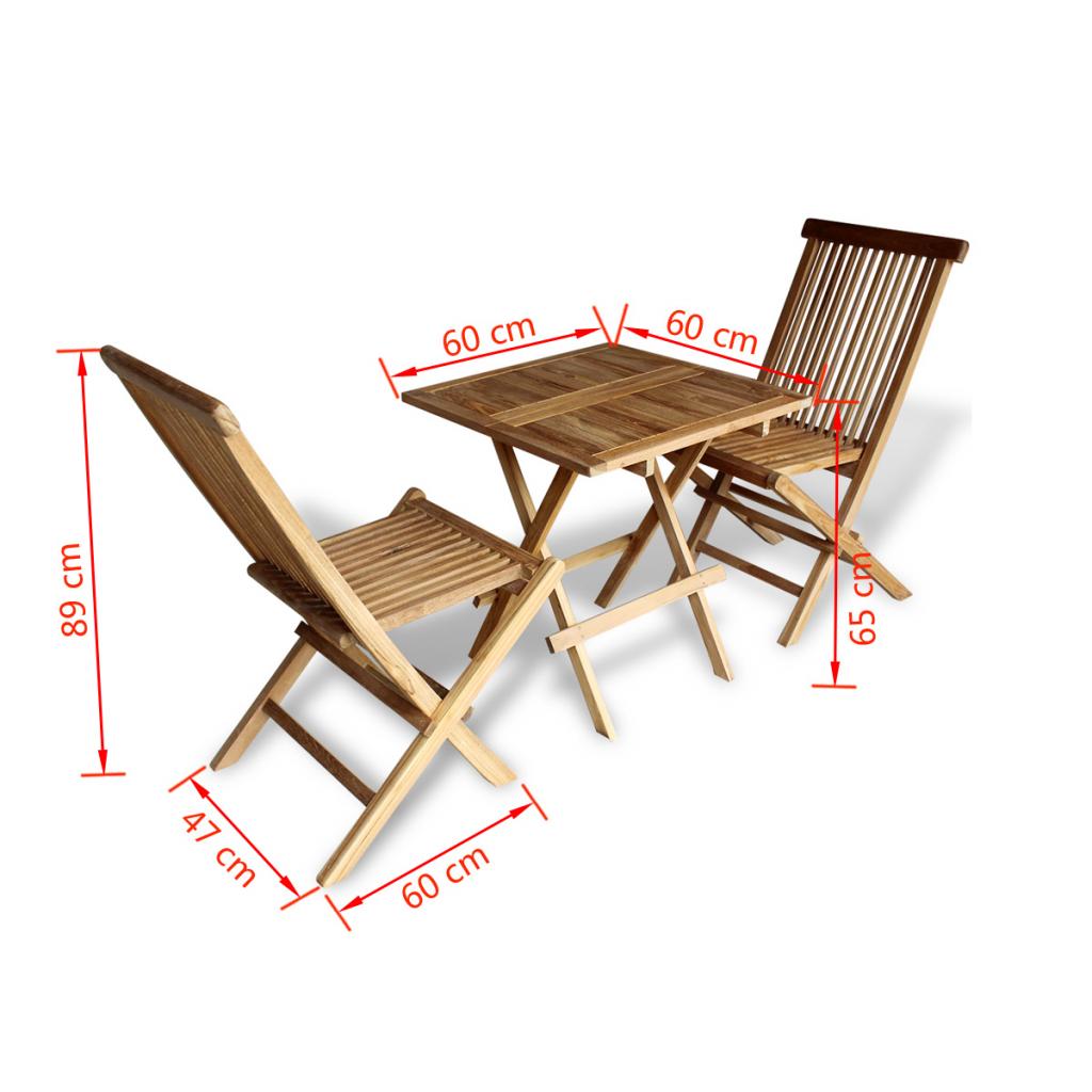 Picture of Teak Three Piece Outdoor Bistro Set