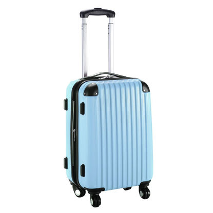 """Picture of Trolley Suitcase Expandable - 20"""" Blue"""