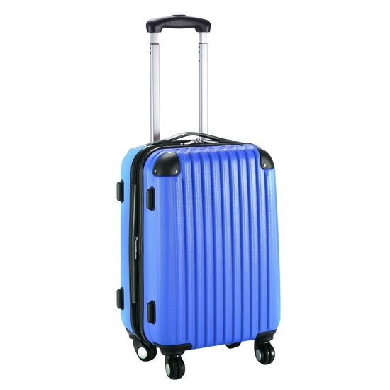 "Picture of Trolley Suitcase Expandable - 20"" Navy"
