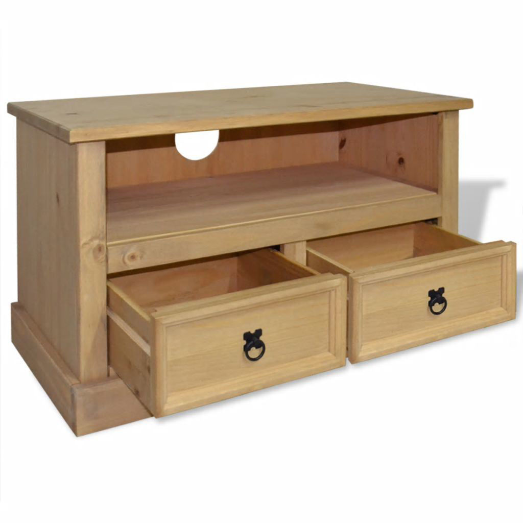 """Picture of TV Cabinet 35"""" - Mexican Pine Corona Range"""