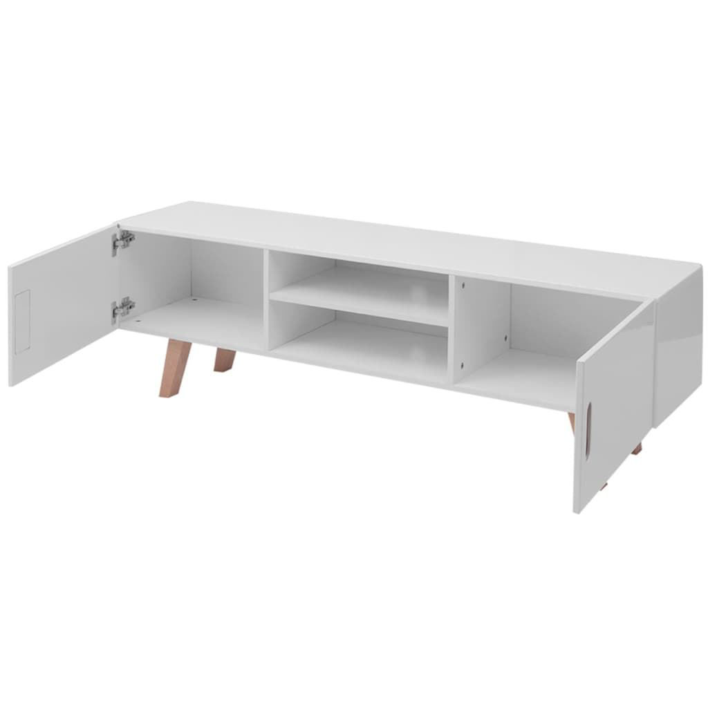 "Picture of TV Stand MDF 59"" - High Gloss White"