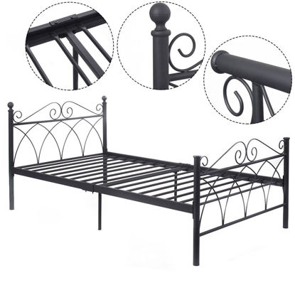 Picture of Twin Size Bed Frame Platform Foundation Furniture
