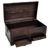Picture of Vintage Large Wooden Treasure Chest Coffee Table - Brown