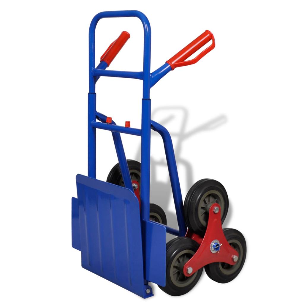 Picture of Warehouse Moving Dolly Cart Sack Truck - 6-wheel Blue-Red
