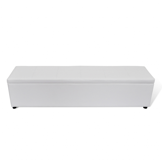 Picture of White Storage Bench Large Size