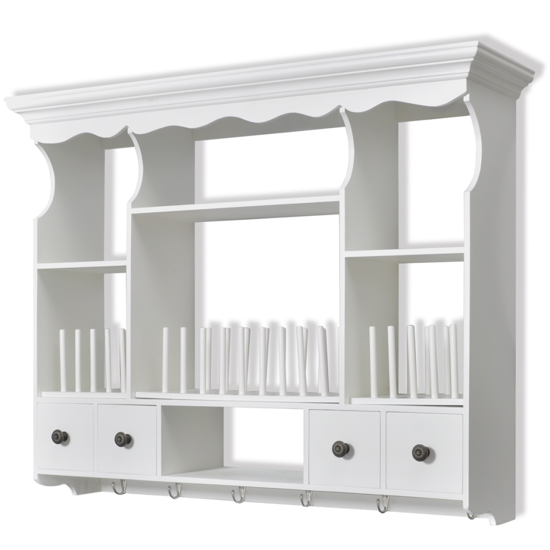 Picture of White Wooden Kitchen Wall Cabinet