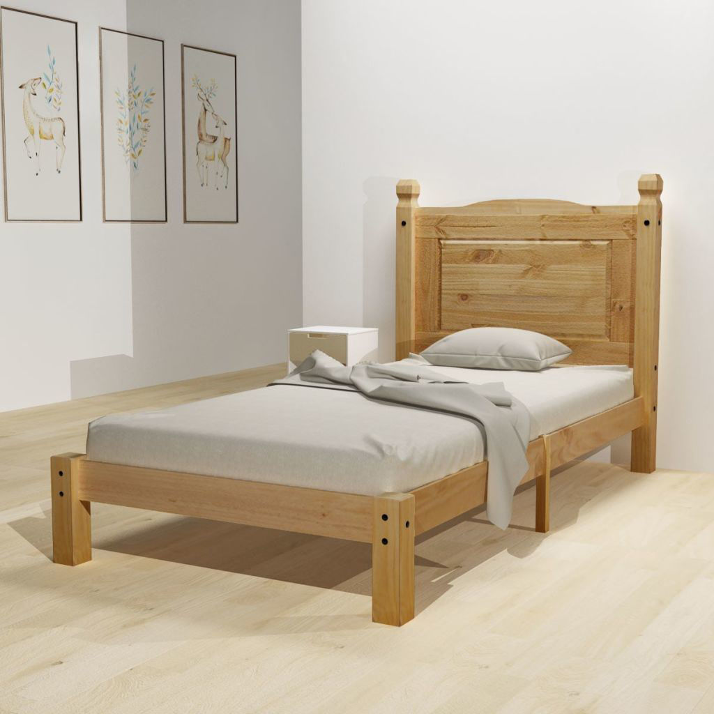 Picture of Wooden Bed Frame - Mexican Pine Corona Range 35'