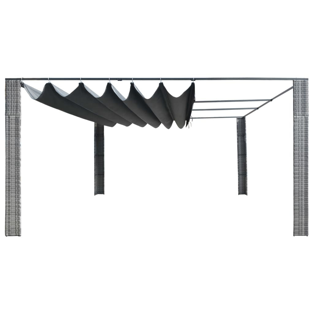 Picture of Outdoor Sliding Roof Gazebo Tent - Gray and Anthracite