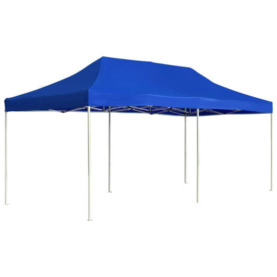 Picture of Outdoor Folding Aluminum Gazebo Tent - Blue