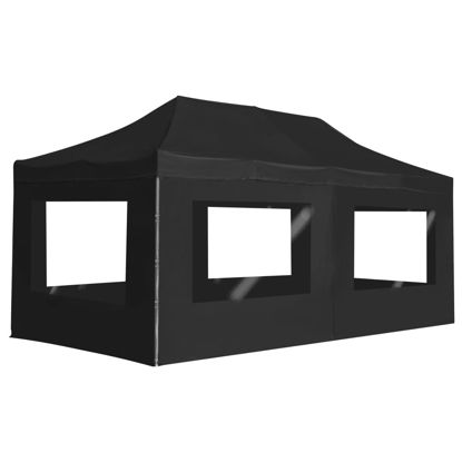 Picture of Outdoor Folding Aluminum Gazebo Tent with Walls - Anthracite