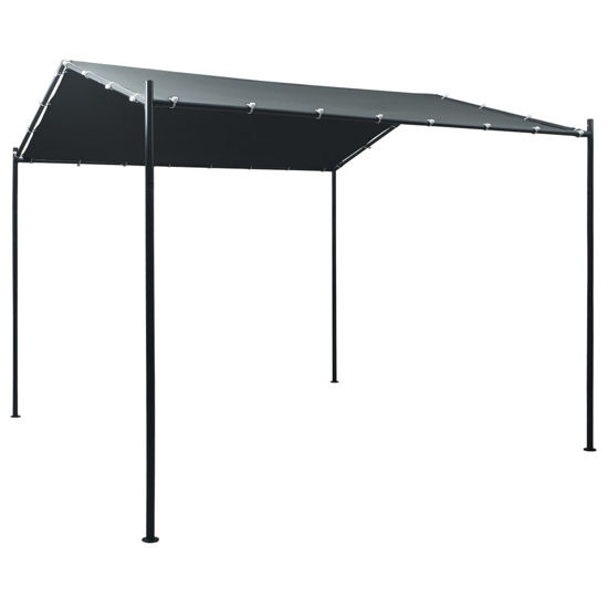 Picture of Outdoor Steel Gazebo Pavilion Tent Canopy - Anthracite