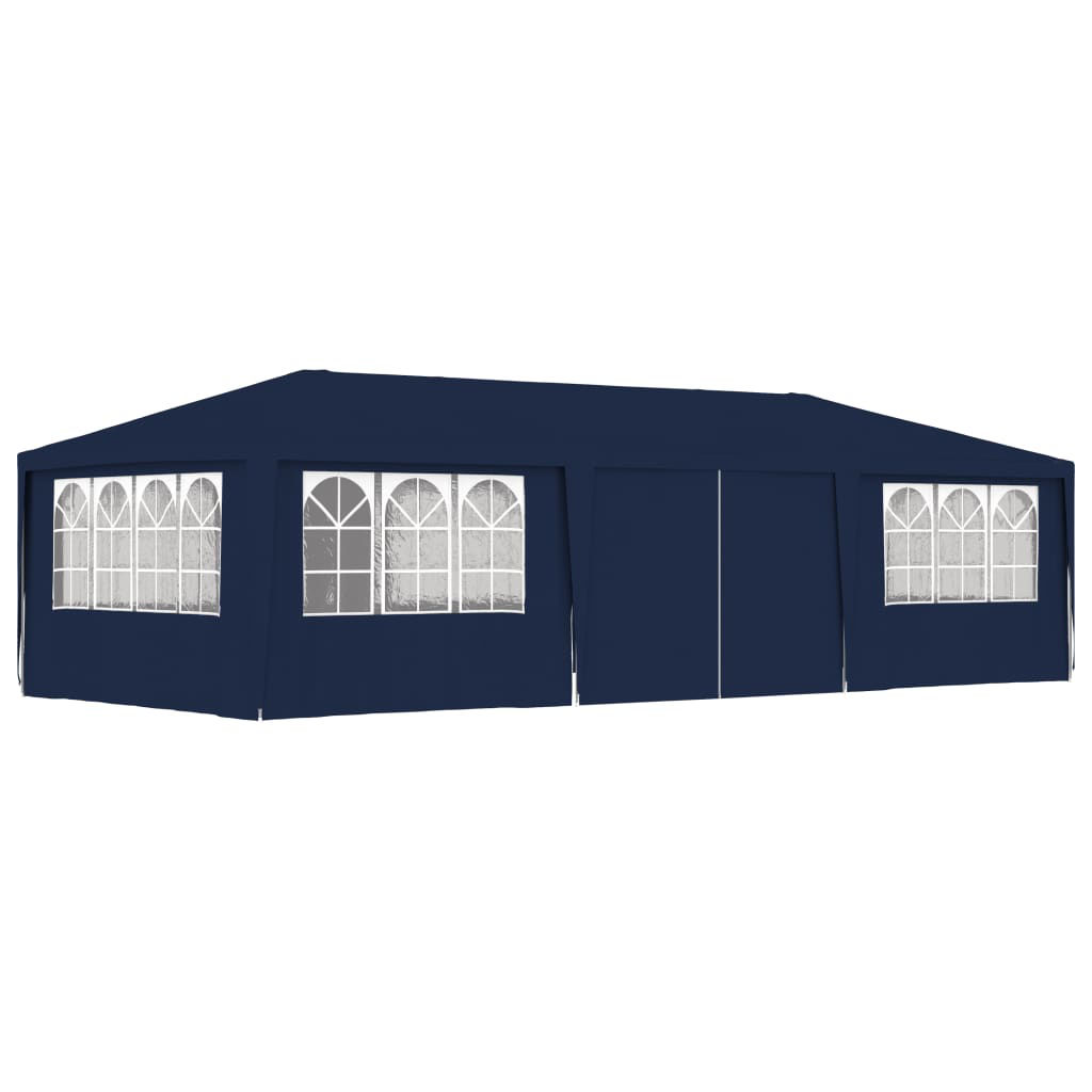 Picture of Outdoor Gazebo Tent with Side Walls - Blue