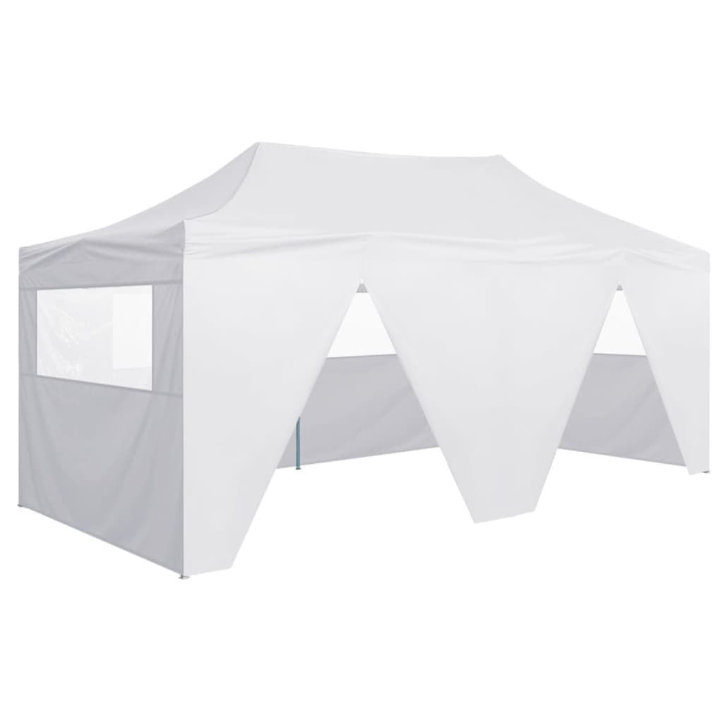Picture of Outdoor 10'x20' Gazebo Folding Party Tent with 4 Sidewalls - White
