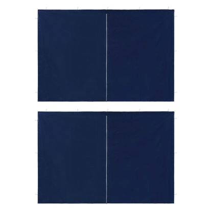Picture of Outdoor Tent Sidewalls with Zipper - 2 pc Blue