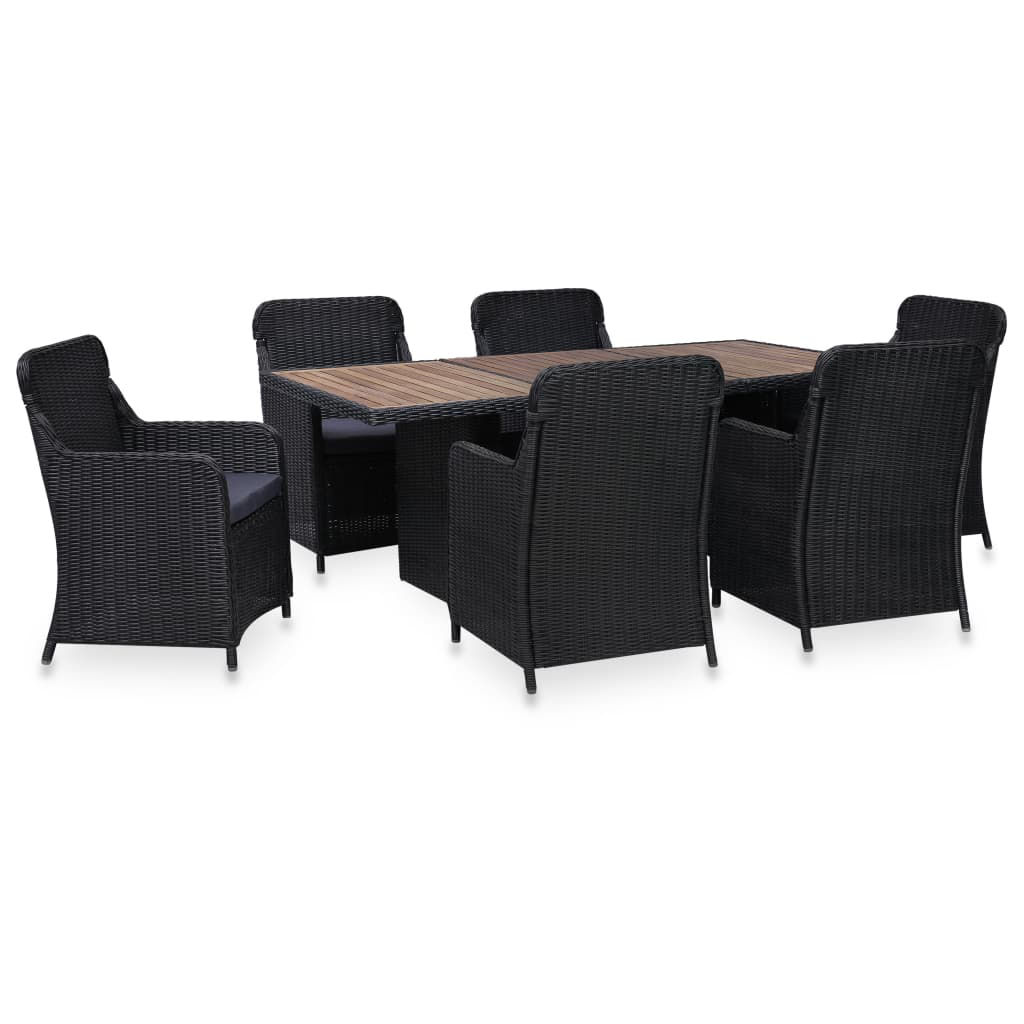 Picture of Outdoor Dining Set - Black 7 pc