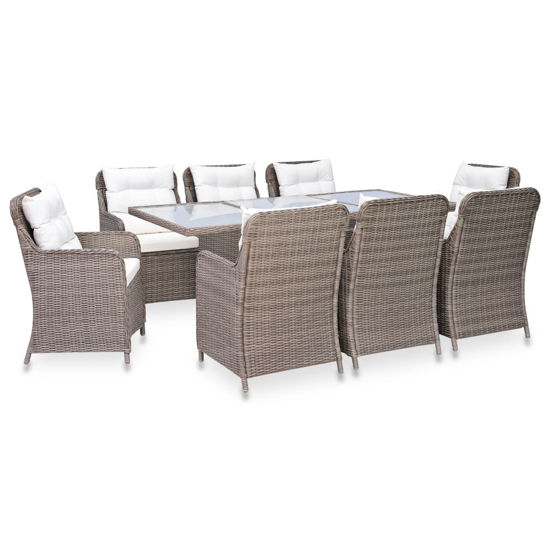Picture of Outdoor Dining Set - Brown 9 pc