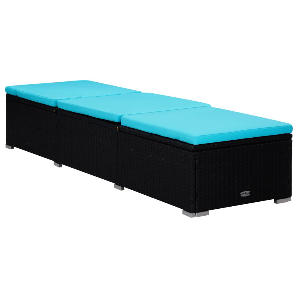 Picture of Outdoor Lounger with Table - Blue