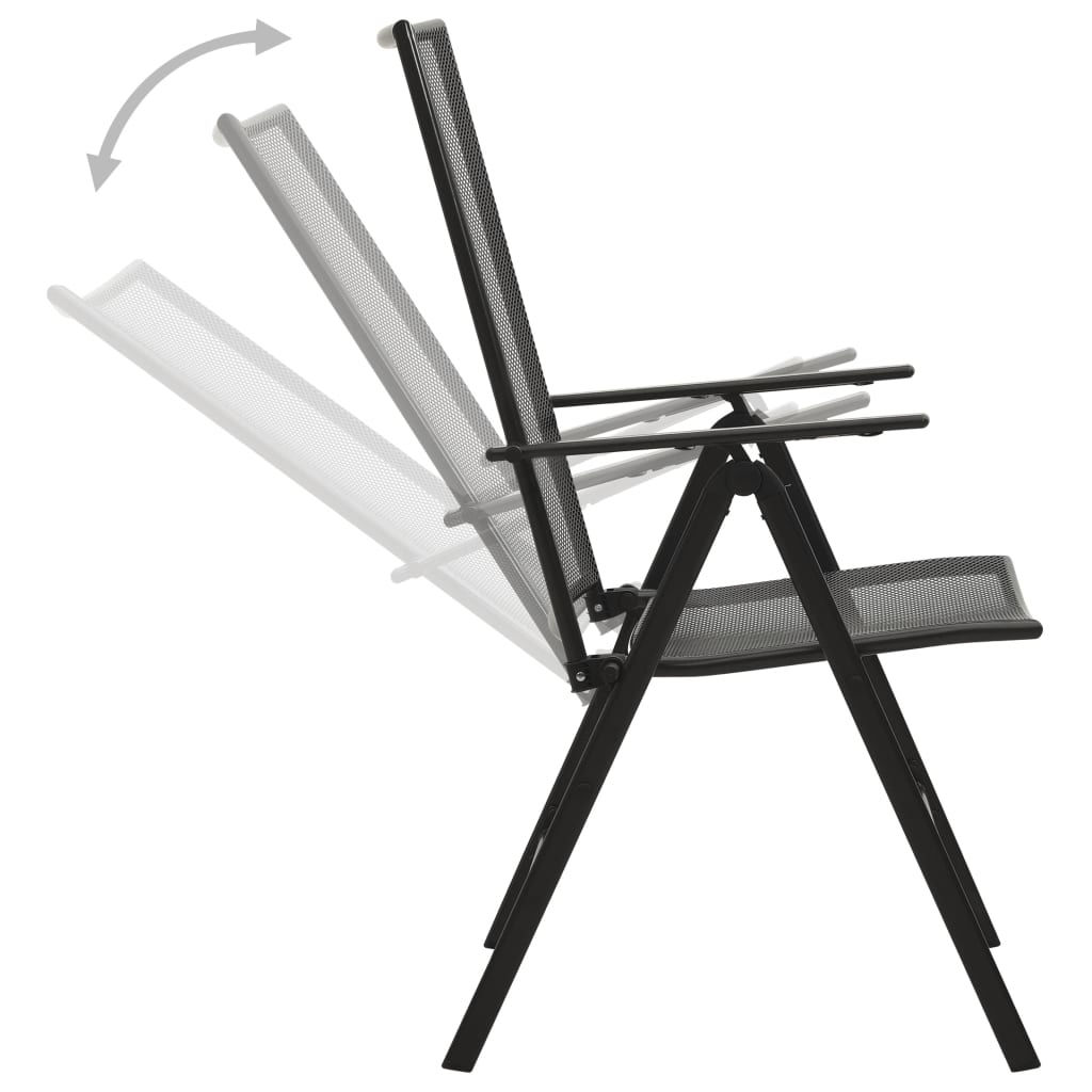 Picture of Folding Chairs Anthracite 4 pc