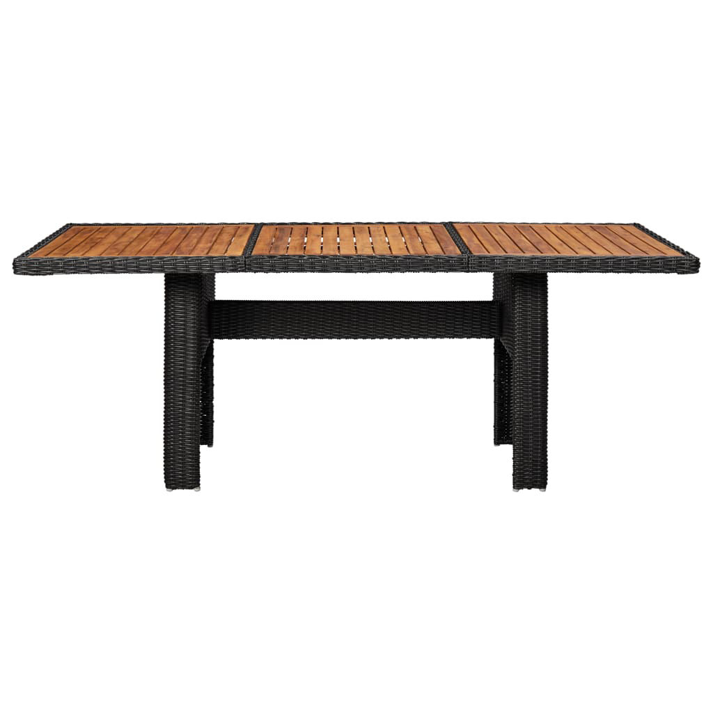 "Picture of Outdoor Dining Table 78"" - Black"