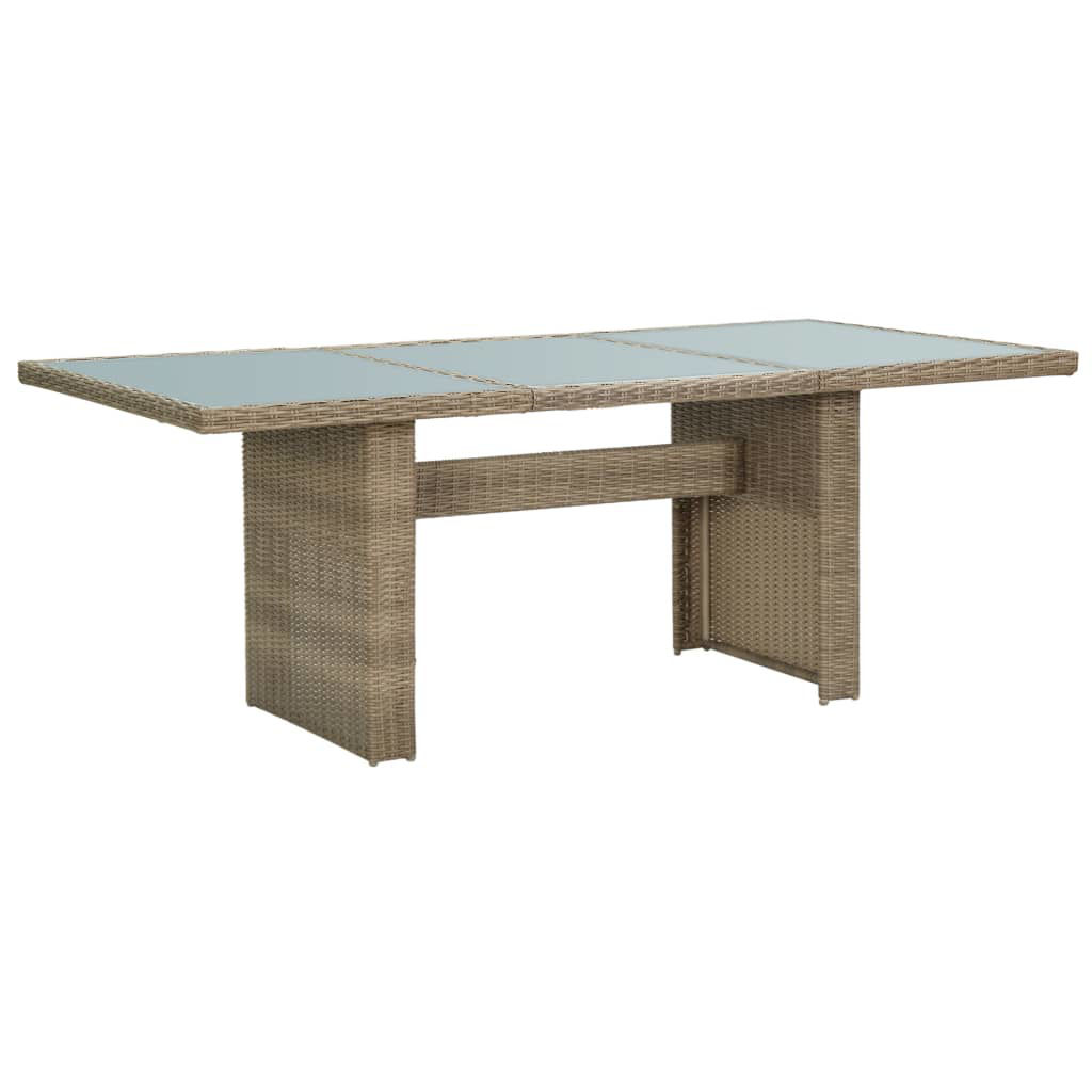 """Picture of Outdoor Dining Table 78"""" - Brown"""