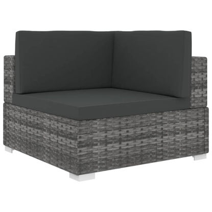 Picture of Patio Sectional Corner Chair - Gray