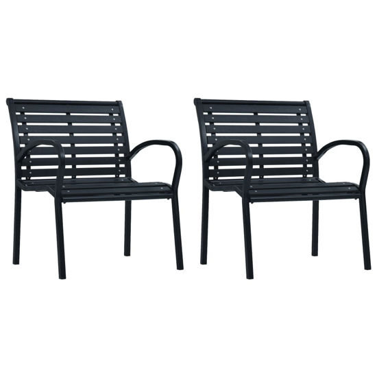 Picture of Outdoor Chairs - Black 2 pcs