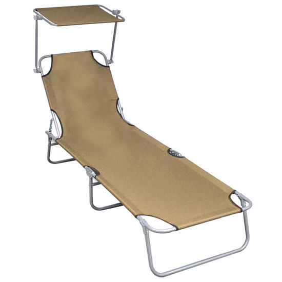Picture of Outdoor Folding Lounger - Taupe