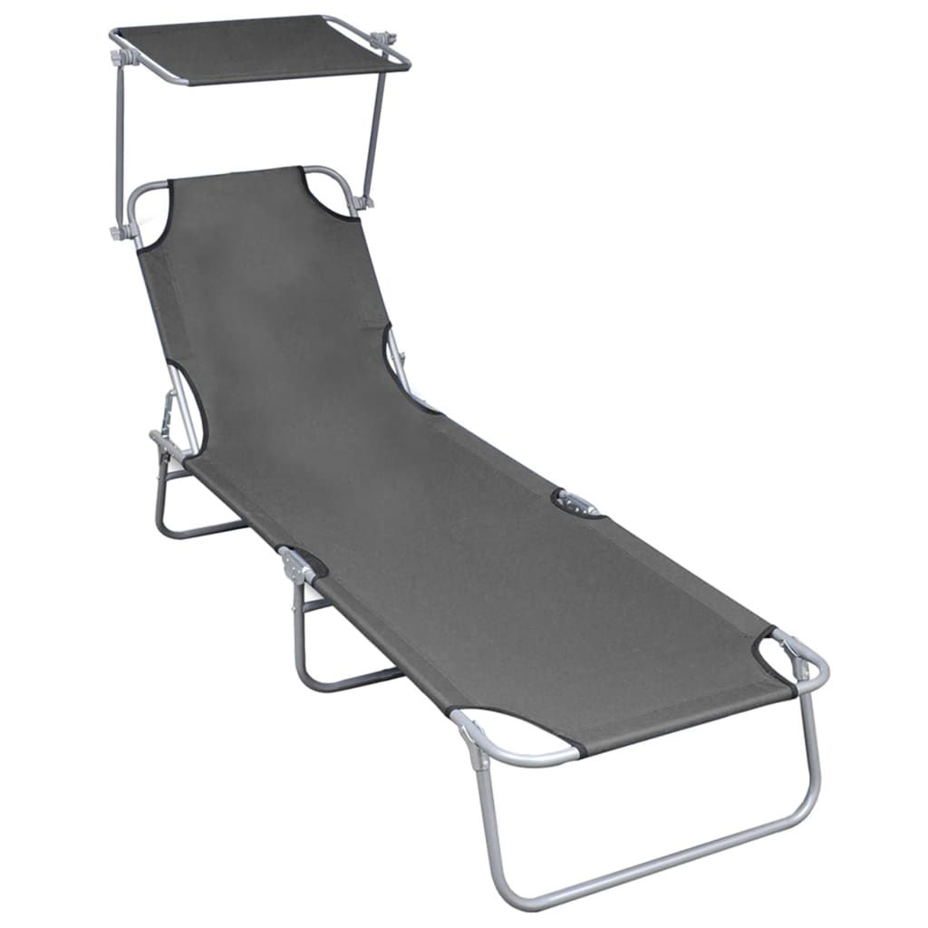 Picture of Outdoor Folding Lounger - Gray