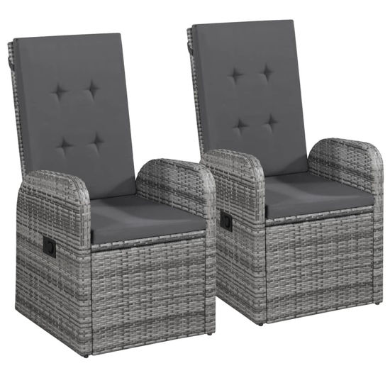 Picture of Outdoor Reclining Chairs - Gray 2 pcs