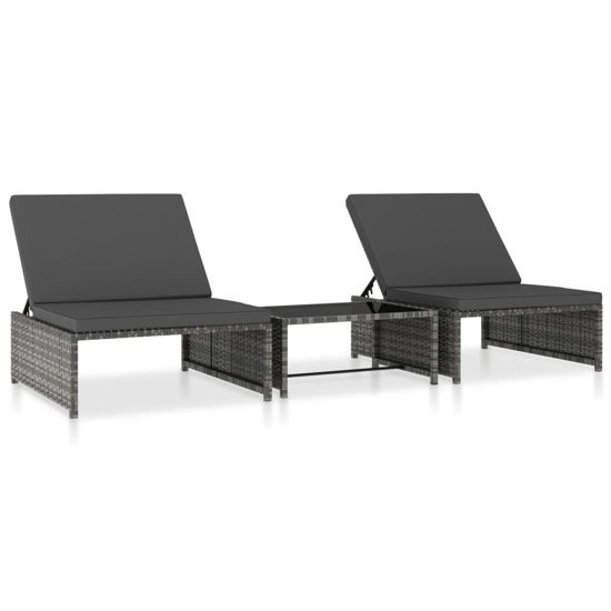 Picture of Outdoor Loungers with Table - Gray