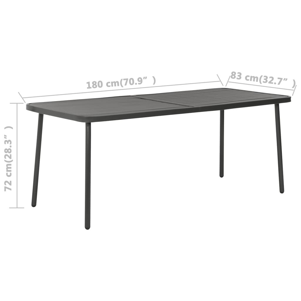 "Picture of Patio Table 70"" - Dark Gray"
