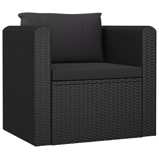Picture of Outdoor Single Sofa - Black