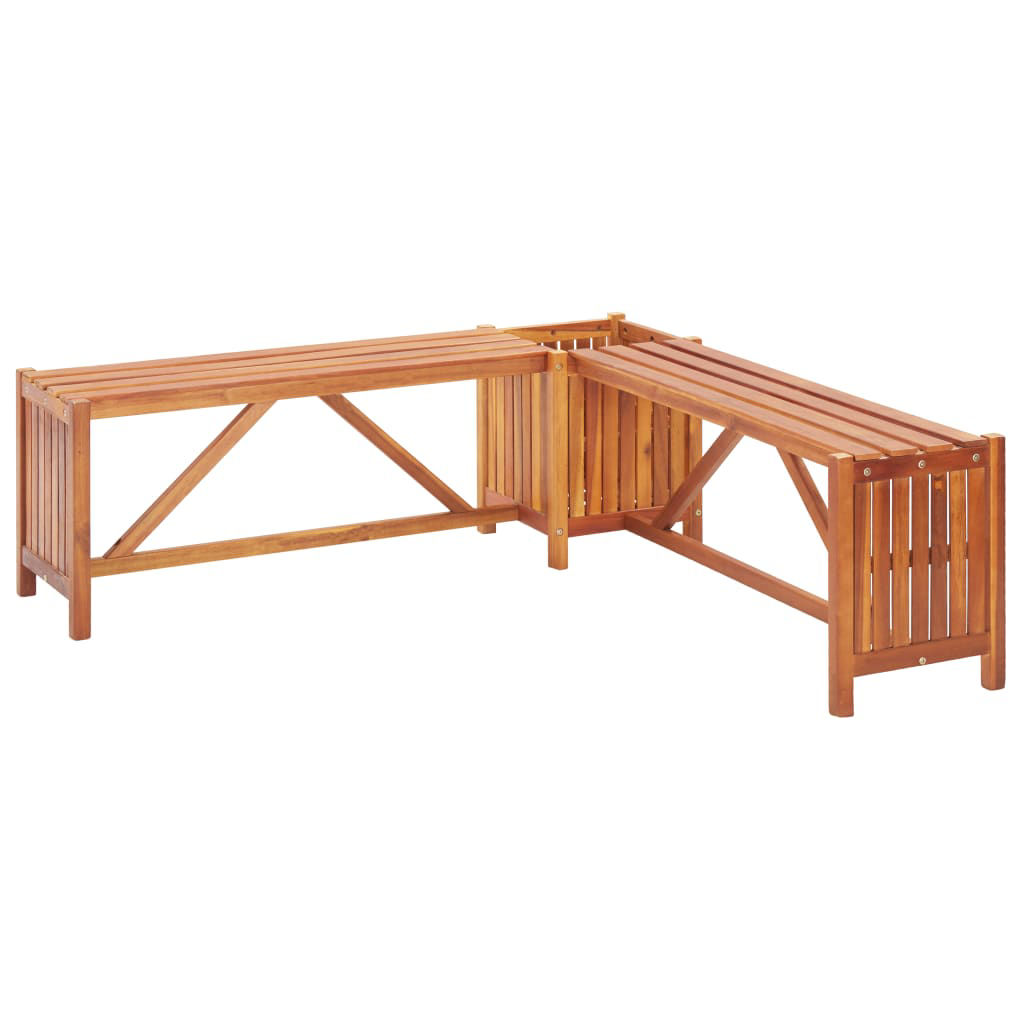 """Picture of Outdoor Bench with Planter 46"""""""