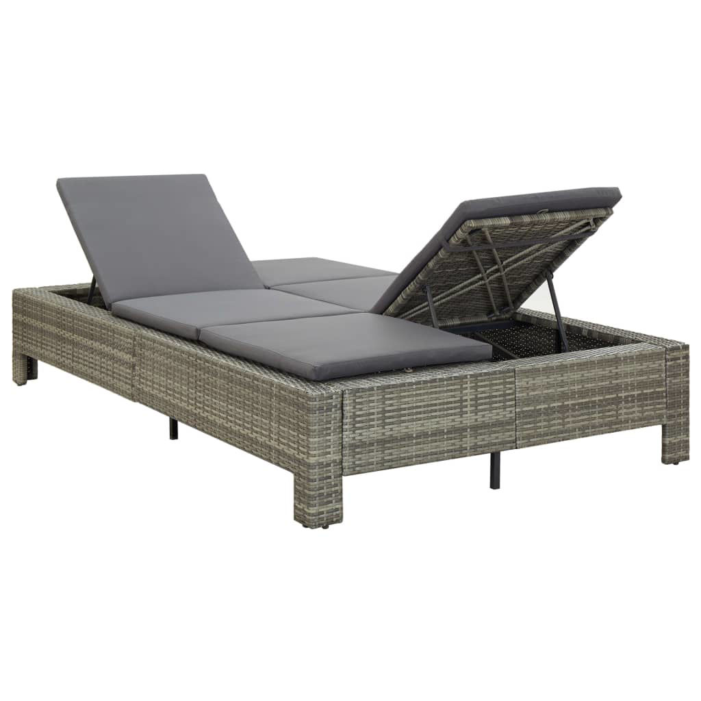 Picture of Outdoor 2-Person Sunbed Gray