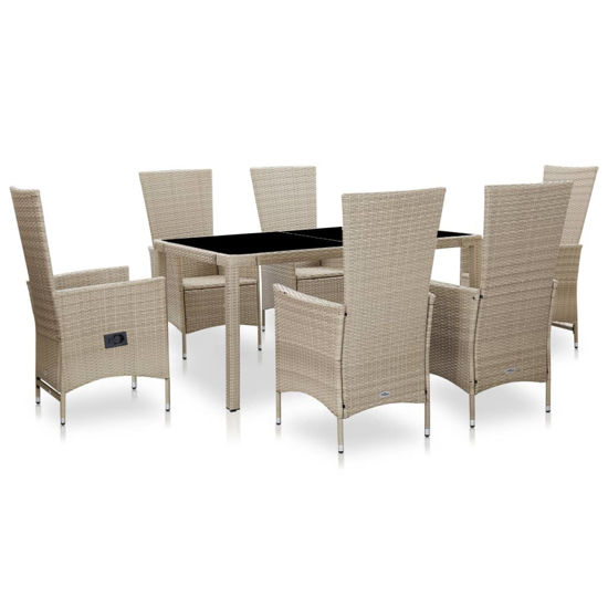 Picture of Outdoor Dining Set - Beige