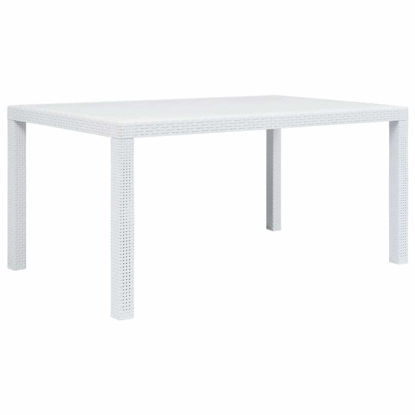 """Picture of Outdoor Plastic Table 59"""" White"""