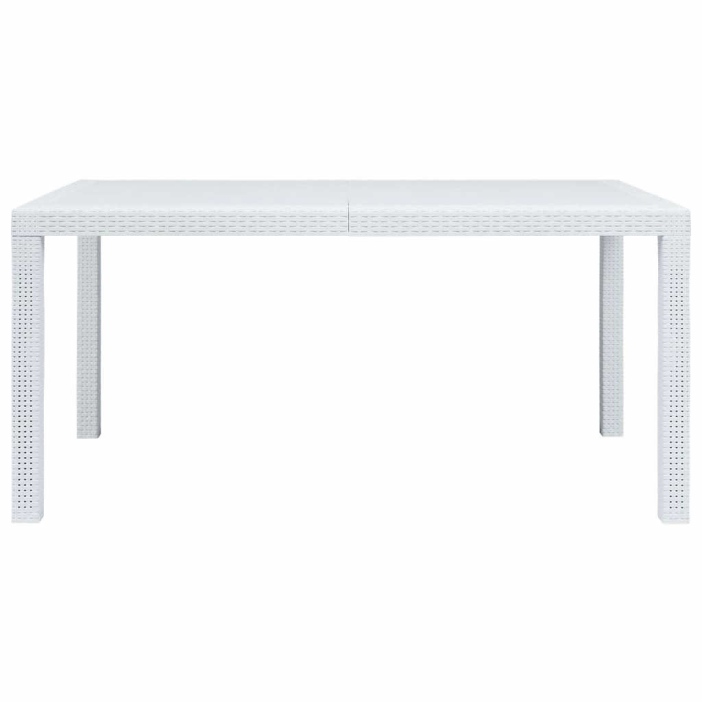 "Picture of Outdoor Plastic Table 59"" White"